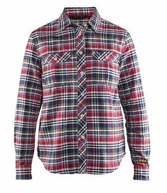 Blaklader Blaklader 3209-1137 Dames Overhemd Flanel Marine/Rood
