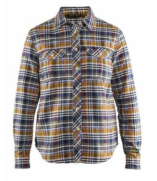 Blaklader Blaklader 3209-1137 Dames Overhemd Flanel Marine/Oranje