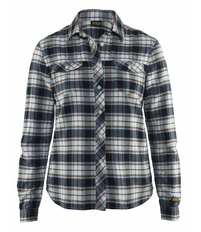 Dames Overhemd.Blaklader 3209 1136 Dames Overhemd Zwart Off White Cohen