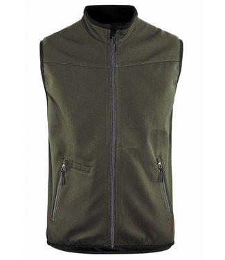 Blaklader Blaklader 3850 Softshell Bodywarmer  Groen/Zwart