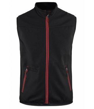 Blaklader Blaklader 3850 Softshell Bodywarmer  Zwart/Rood