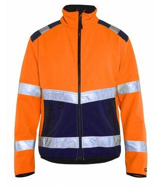 Blaklader Blaklader 4877 Softshell jack High Vis Oranje/Marineblauw