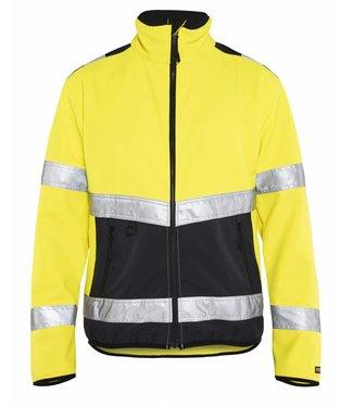 Blaklader Blåkläder 4877 Softshell jack High Vis Geel/Zwart