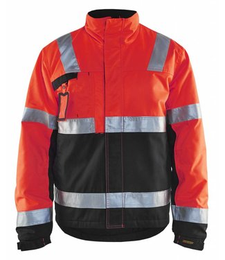 Blaklader Blåkläder 4862 Winterjas High Vis Fluor Rood/Zwart