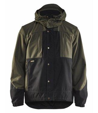 Blaklader Blåkläder 4854 Garden jas. Ongevoerd Army Groen/Zwart