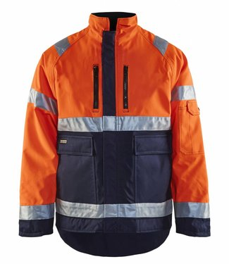 Blaklader Blaklader 4827 Winterjas HIGH VIS Oranje/Marineblauw