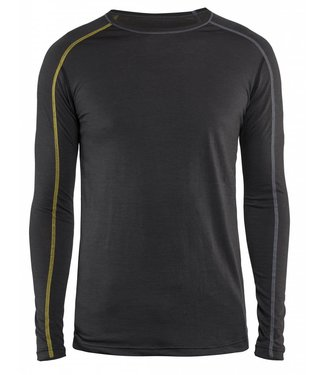Blaklader Blaklader 4799 Onderhemd XLIGHT 100% Merino Donkergrijs/Geel