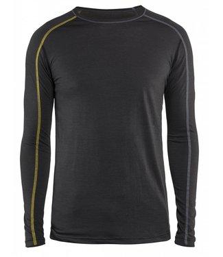 Blaklader Blåkläder 4799 Onderhemd XLIGHT 100% Merino Donkergrijs/Geel