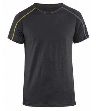 Blaklader Blaklader 4798 Onderhemd korte mouw XLIGHT 100% Merino Donkergrijs/Geel