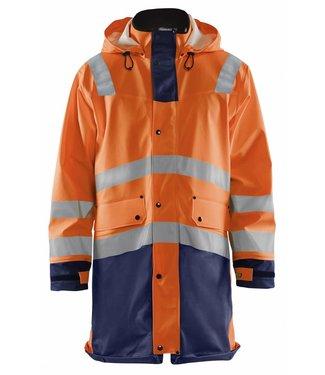 Blaklader Blåkläder 4326 Regenjas High Vis LEVEL 3 Oranje/Marineblauw