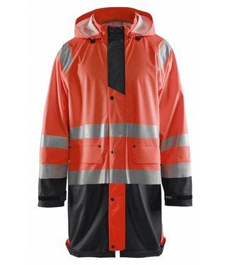 Blaklader Blåkläder 4324 Regenjas High vis LEVEL 1 Fluor Rood/Zwart