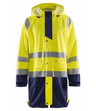 Blaklader Blaklader 4324 Regenjas High vis LEVEL 1 Geel/Marineblauw