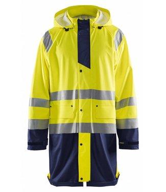 Blaklader Blåkläder 4324 Regenjas High vis LEVEL 1 Geel/Marineblauw