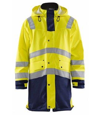 Blaklader Blåkläder 4306 Regenjas High Vis LEVEL 2 Geel/Marineblauw