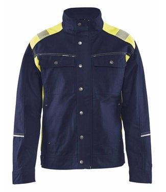 Blaklader Blåkläder 4095 Jack. Ongevoerd Visible Marineblauw/Geel