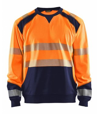 Blaklader Blaklader 3541 Sweatshirt High Vis Oranje/Marineblauw