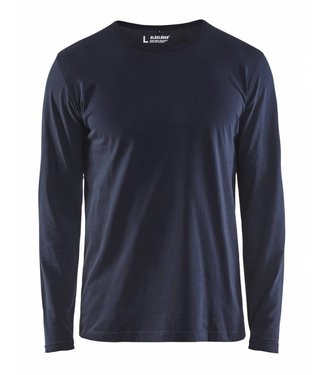 Blaklader Blåkläder 3500 T-shirt lange mouw Marineblauw