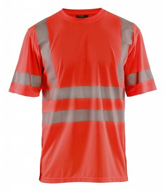 Blaklader Blaklader 3420 T-shirt High Vis Fluor Rood