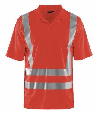 Blaklader Blaklader 3391 Poloshirt High Vis Fluor Rood
