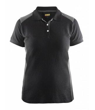 Blaklader Blaklader 3390 Dames Poloshirt piqué Zwart/Grijs