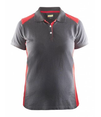 Blaklader Blåkläder 3390 Dames Poloshirt Piqué Grijs/Rood