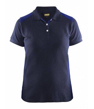 Blaklader Blåkläder 3390 Dames Poloshirt Piqué Marineblauw/Korenblauw