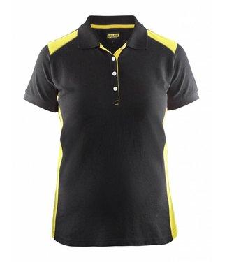 Blaklader Blaklader 3390 Dames Poloshirt piqué Zwart/Geel