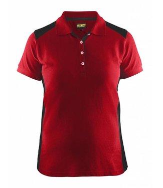 Blaklader Blåkläder 3390 Dames Poloshirt Piqué Rood/Zwart