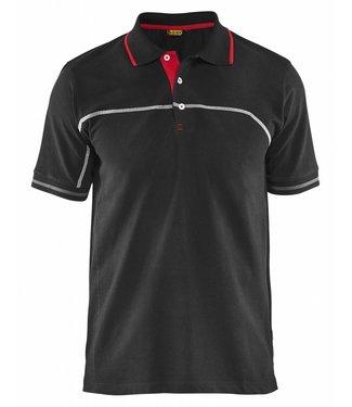 Blaklader Blåkläder 3389 Poloshirt Zwart/Rood
