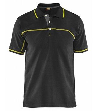 Blaklader Blåkläder 3389 Poloshirt Zwart/Geel