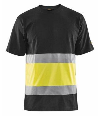 Blaklader Blaklader 3387 T-shirt High Vis Zwart/Geel