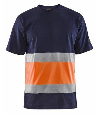Blaklader Blåkläder 3387 T-shirt High Vis Marineblauw/Oranje