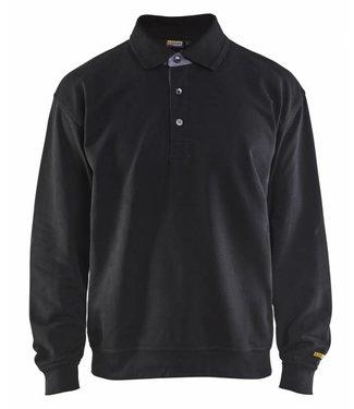 Blaklader Blaklader 3370 Polo Sweatshirt Zwart