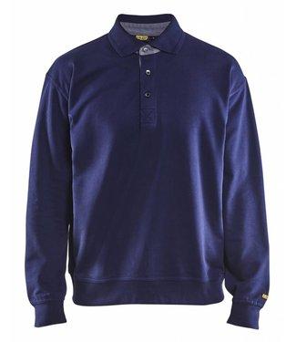 Blaklader Blåkläder 3370 Polo Sweatshirt Marineblauw