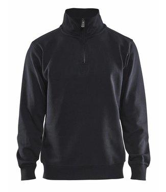 Blaklader Blaklader 3365 Sweatshirt Jersey (1/2 Rits) Zwart