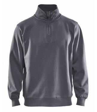 Blaklader Blaklader 3365 Sweatshirt Jersey (1/2 Rits) Grijs