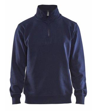 Blaklader Blåkläder 3365 Sweatshirt Jersey (1/2 Rits) Marineblauw