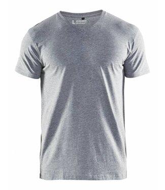 Blaklader Blåkläder 3360-1059 T-Shirt, V-hals Grijs Mêlee