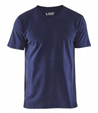 Blaklader Blåkläder 3360-1029 T-Shirt, V-hals Marineblauw