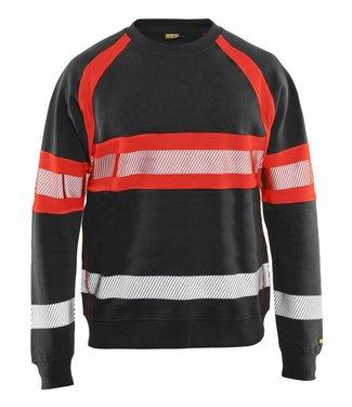 Blaklader Blaklader 3359 Sweater High Vis Zwart/Fluor Rood