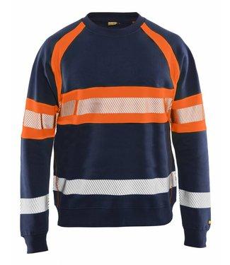 Blaklader Blåkläder 3359 Sweater High Vis Marineblauw/Oranje