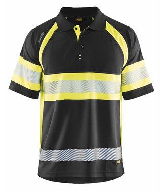 Blaklader Blaklader 3338 Poloshirt High Vis Klasse 1 Zwart/Geel