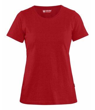 Blaklader Blåkläder 3334 Dames T-shirt Rood
