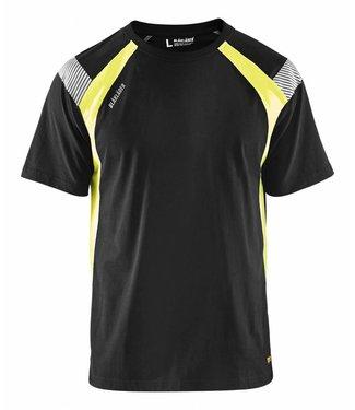Blaklader Blaklader 3332 T-shirt Visible Zwart/Geel
