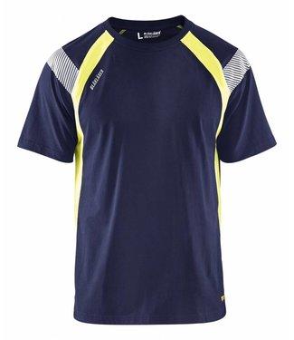 Blaklader Blaklader 3332 T-shirt Visible Marineblauw/Geel