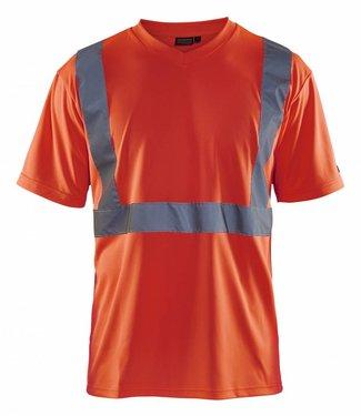 Blaklader Blaklader 3313 T-Shirt High Vis Fluor Rood