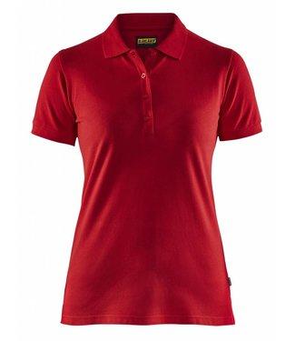 Blaklader Blåkläder 3307 Dames Poloshirt Piqué Rood