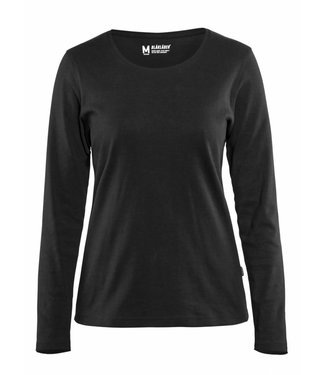 Blaklader Blaklader 3301 Dames T-shirt met lange mouw Zwart