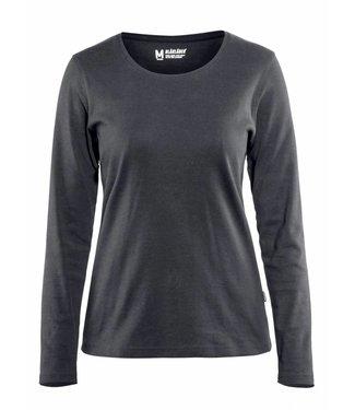 Blaklader Blåkläder 3301 Dames T-shirt met lange mouw Donkergrijs