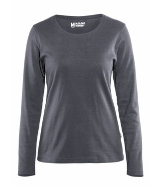 Blaklader Blaklader 3301 Dames T-shirt met lange mouw Grijs